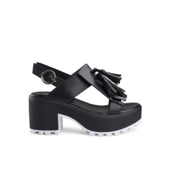 Shoes Woman Cult Sandal Jam leather black