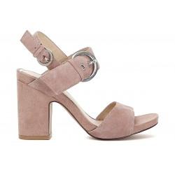 Sandalo donna Cafenoir camoscio rosa
