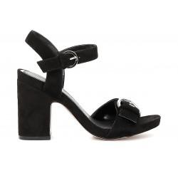 Sandalo donna Cafenoir camoscio nero