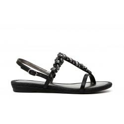 Sandalo infradito donna Cafenoir gioiello nero