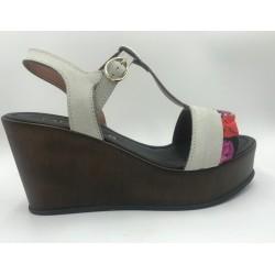 Cafenoir confortable grey wedge sandals