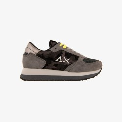 Shoes Sun 68 Runner woman camouflage grey