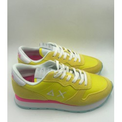 Shoes Sun 68 Runner woman solid nylon yellow