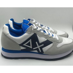 Sneakers tom nylon mesh patch blue and white