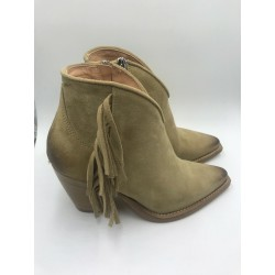 Texan leather Ankle boot woman shoes