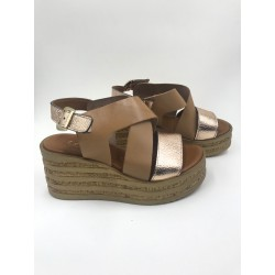 Made in Italy light brown real leather sandals