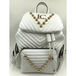 La Carrie Bag backpack vegan white leather