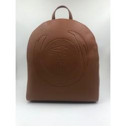 Trussardi jeans backpack vegan brown leather