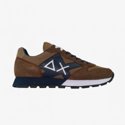 Sneakers tom nylon mesh patch brown and blue