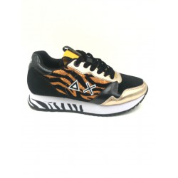 Shoes Sun 68 Runner woman zebra Kelly