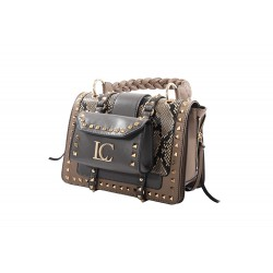 La Carrie Bag Michelle Handle studs taupe