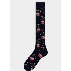 Socks men made in italy CABLE CAR PATTERN black