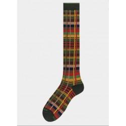 Socks men made in italy multicolor tartan red