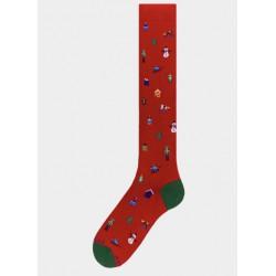 Socks men made in italy multicolor micro chrismas gadget