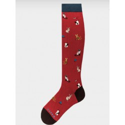 Socks woman made in italy multicolor cats