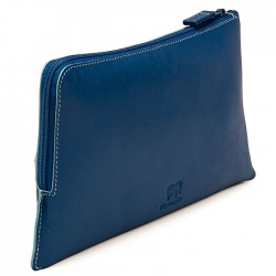 Pouch in Nappa leather mywalit blue marine