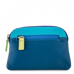 large coin purse leather blue royale