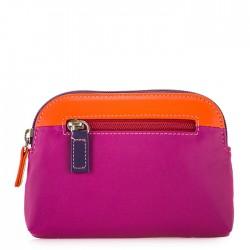 large coin purse leather orange