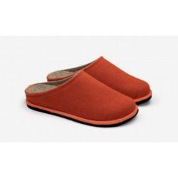 Boiled wool slippers woman orange