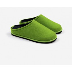 Boiled wool slippers woman acid green