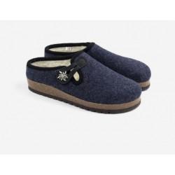 Boiled wool slippers woman ecru buclè
