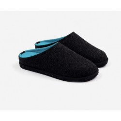 Boiled wool slippers man dark grey
