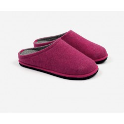 Boiled wool slippers woman pink