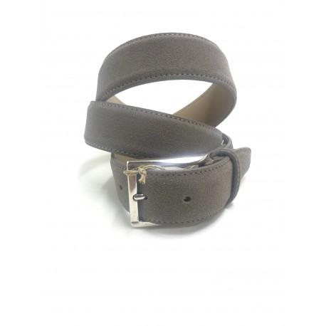 Belt man in grey suede