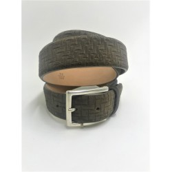 Man's belt in grey suede