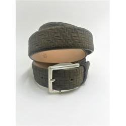 Man's belt in grey suede