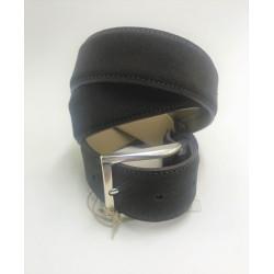 Man's belt in brown suede