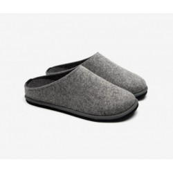 Boiled wool slippers man grey
