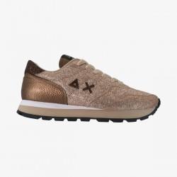 Shoes Sun 68 Runner woman velvet glitter gold
