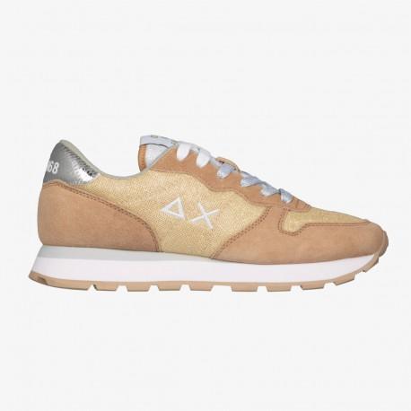 Shoes Sun 68 Runner woman Thin glitter gold