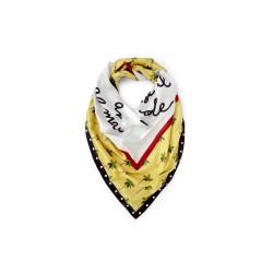 soft scarf Le pandorine mare yellow