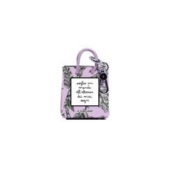mini shopper keychian lilac