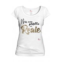Woman's Tshirt organic cotton La Famme white