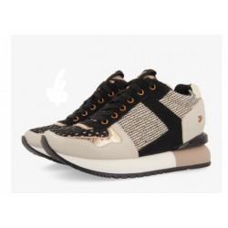 Sneakers inner wedge Gioseppo black