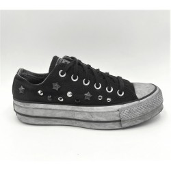 Woman's Sneakers Converse limited edition custom black