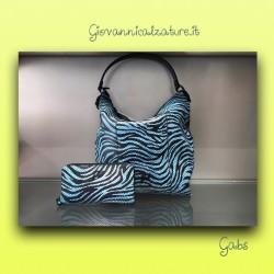 bags and wallet Gabs zebra turquiose
