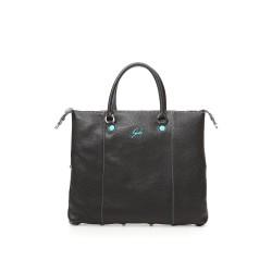 Trasformable shoulder bag G3 Plus leather Black