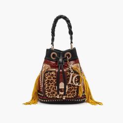 La Carrie Bag Bucket shoulder bag Jungle brown