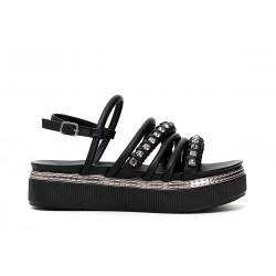 Woman's Shoes Cafenoir Sandal comfortable heeled black